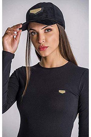 Gianni Kavanagh Black Velvet Cap met gouden GK Plaket Baseball Cap, Zwart, UN voor dames
