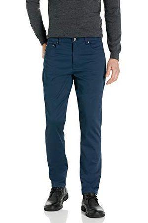 Buttoned Down Amazon-merk - Geknoopte omlaag mannen rechte pasvorm 5-Pocket gemakkelijk te onderhouden Stretch Twill Chino broek,marineblauw,42W / 32L