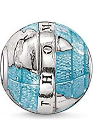 Thomas Sabo Dames Heren Bead Welt Karma Beads 925 Sterling Zwart K0036-007-1