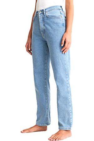 NA-KD Dames Straight High Waist Jeans, lichtblauw, 40