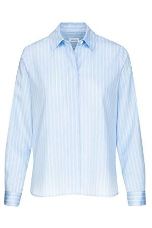 Seidensticker Damesblouse – modieuze blouse – gemakkelijk te strijken hemdblouse met hemdblousekraag – losse pasvorm – lange mouwen – 100% katoen