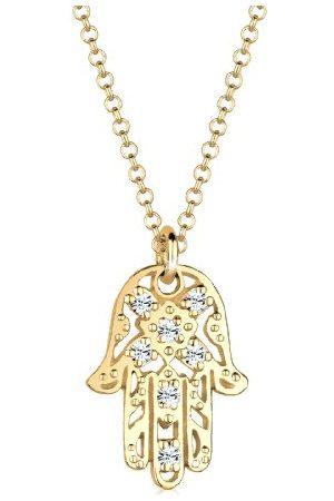 Elli Halsketting 925 zilver Hamsa-hand met Kristal