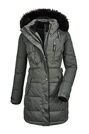 G.I.G.A. DX by killtec Ventoso Wmn Quilted Prk D Casual Functionele parka in dons-look met afritsbare capuchon