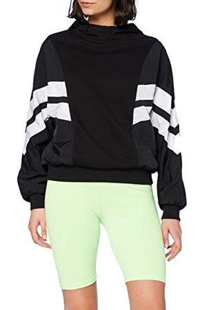 Urban classics Dames Ladies Mix Crinkle Nylon Sweat Hoody Pullover met capuchon, / , 4XL