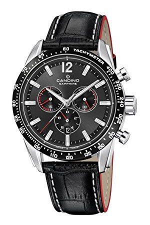 Candino Heren Chronograaf Quartz Horloge met Lederen Band C4681/2
