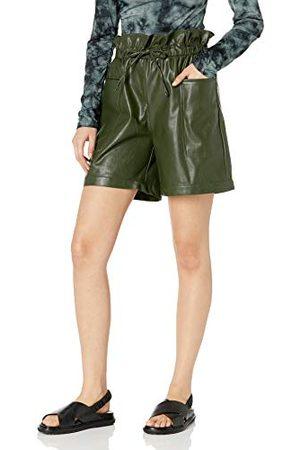 KENDALL + KYLIE Vrouwen Vegan lederen Paperbag Shorts