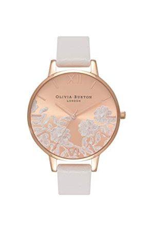 Olivia Burton Dames analoog kwarts horloge met lederen armband OB16MV53