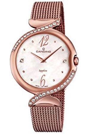 Candino Dames datum klassiek kwarts horloge met roestvrij stalen armband C4613/1