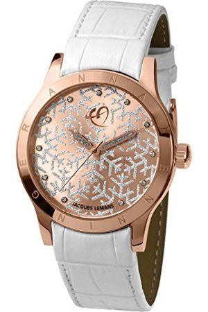 Jacques Lemans Dames multi-wijzerplaat kwarts horloge met lederen armband AF-101B