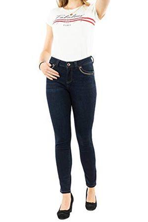 Morgan Denim Slim Detail Galon parels metaal Porty Jeans dames