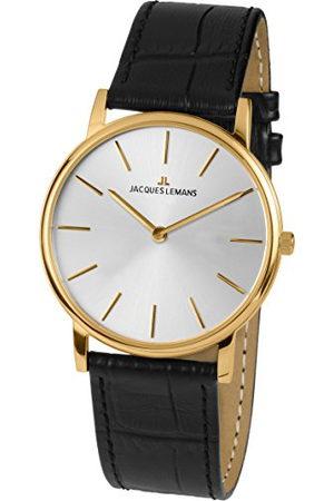 Jacques Lemans Dames analoog kwarts horloge met lederen armband 1-1849C
