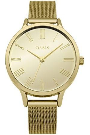 Oasis Dames datum klassiek kwarts horloge met aluminium armband B1623