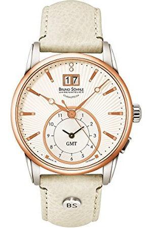Soehnle Bruno Söhnle dames analoog kwarts horloge met lederen armband 17-63154-241