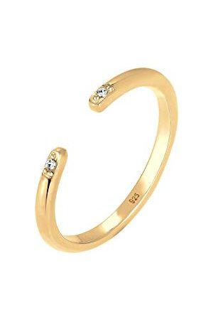 Elli Ringen Minimal Geo Kristalle 925 Silber