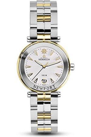 Michel Herbelin Unisex volwassen analoog horloge met roestvrij stalen armband 14285/BT11