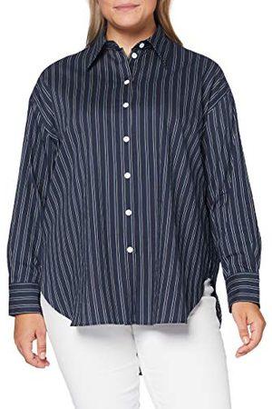 Seidensticker Damesblouse – modieuze blouse – hemdblouse met hemdblouse-kraag – oversize fit – lange mouwen – materiaalmix