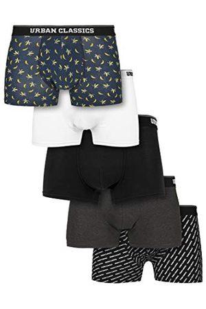 Urban classics Herenonderbroeken, 5-pack boxershorts, ondergoed voor mannen, verkrijgbaar in 3 varianten, maten S - 5XL