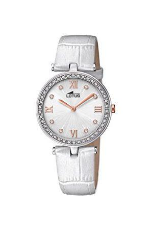 Lotus Dames datum klassiek kwarts horloge met lederen armband 18462/1