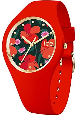 Ice-Watch ICE flower Floral passion - Rood dameshorloge met siliconen armband - 017577 (Maat M)