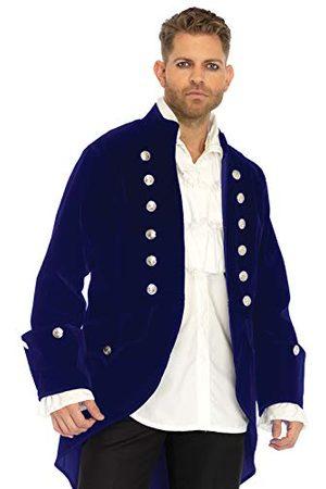 Leg Avenue Heren fluwelen mantel-8668702 kostuum voor volwassenen, , M