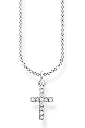 Thomas Sabo Dames halsketting kruis pavé 925 sterling , 36-38 cm lengte