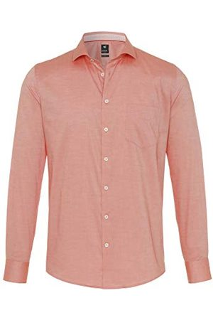Pure Heren 4025-418 City Black Lange mouw Klassiek overhemd, effen lichtblauw, S
