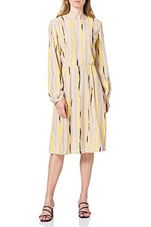 TOM TAILOR 1025087-26555-36 jurk, 26555 beige design, 36 voor dames