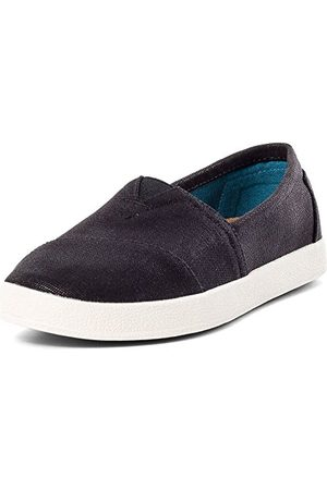 TOMS Vrouwen Avalon Low-Top Sneakers, (Black Coated Canvas 000), 3 UK