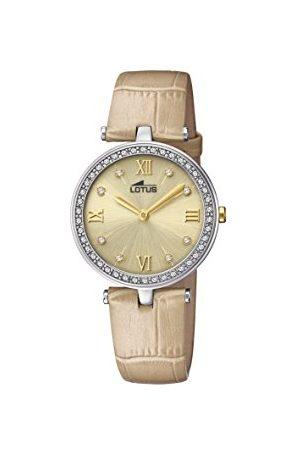 Lotus Dames datum klassiek kwarts horloge met lederen armband 18462/2