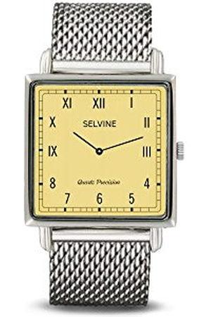 Selvine Dames Horloges - Dameshorloge, analoog, kwarts, met armband van roestvrij staal SOLY16