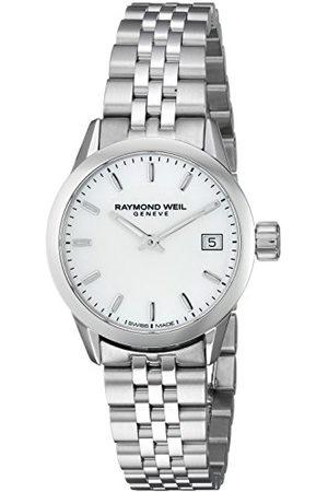 Raymond Weil Dames freelancer 26 mm wit parelmoer horloge 5626-ST-97021