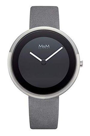 M&M M & M dames analoog kwarts horloge met lederen armband M11946-825