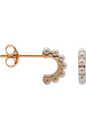Karma Oorbellen Plain Half Hoops Pretty Pearls Roségoudkleurig