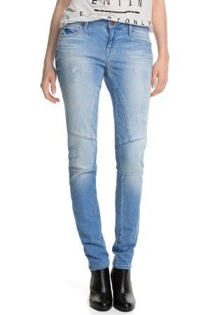 Esprit Dames tapered jeans skin Destroyed
