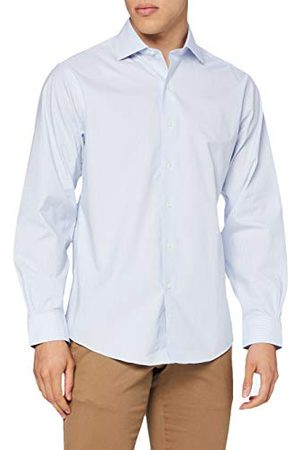 Brooks Brothers DS Og Ni Sbclth ENG FF NP Rgnt Fnstpltblue casual overhemd voor heren - - X-Small