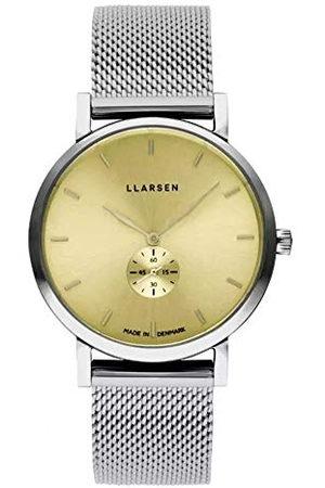 LLARSEN Dames analoog kwarts horloge met roestvrij stalen armband 144SYS3-MS3-18