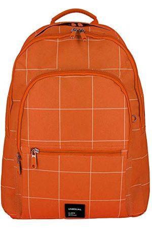 Grafoplas 37502252 collectie Unequal Grid schoolrugzak, oranje, 31,5 x 43 x 21 cm
