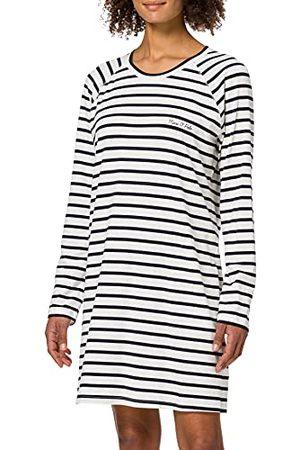 Marc O'Polo Body & Beach Marc O'Polo Body & Beach Dames Sleepshirt lange mouwen Crew-Neck Nachthemd