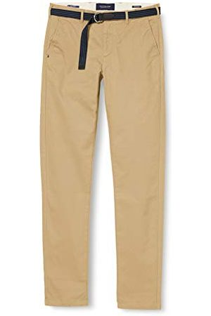 Scotch&Soda Heren Stuart Peached Twill Chino With Give Away Riem Casual Broek