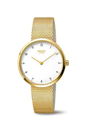 Boccia Dames analoog kwarts horloge met roestvrij stalen armband 3315-04