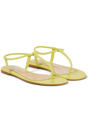 Gianvito Rossi Leather thong sandals