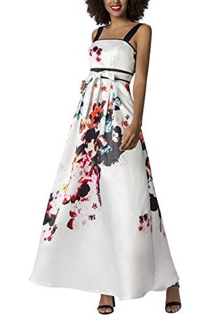 Apart Apart avondjurk voor dames met aangenaaide satijngordel jurk voor bijzondere gelegenheden