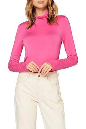 SPARKZ COPENHAGEN Dames Sella Rollneck T-shirt met lange mouwen - roze - XL