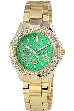 Excellanc Dames analoog kwartshorloge met roestvrij stalen armband 152106000110