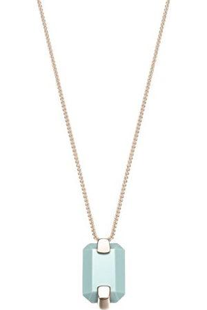 JOOP! JPNL00018C420 Dameshanger, deels verguld, zirkonia, turquoise, baguettegeslepen 42 cm