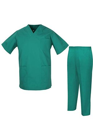 MISEMIYA Unisex-sanitairuniformen, medische uniformen Verpleegkundigen Tandartsen 817-8312 - S, Verde
