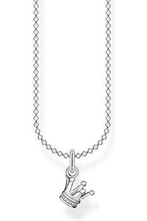 Thomas Sabo Dames halsketting kroon 925 sterling , 38-45 cm lengte