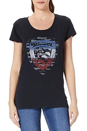 Blauer T-shirt met korte mouwen voor dames