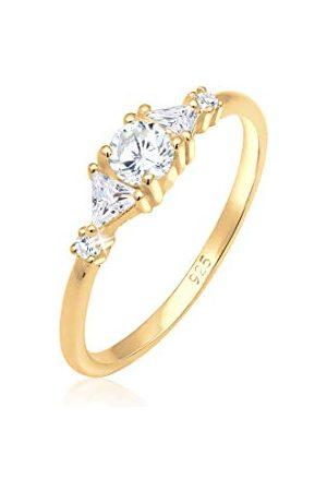 Elli Ringen triangle zirkonia fonkelend 925 zilver