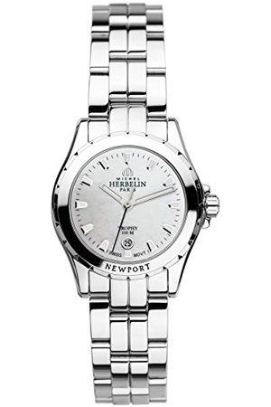 Michel Herbelin Unisex volwassen analoog horloge met roestvrij stalen armband 12870/B19